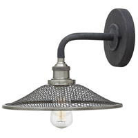Rigby 1 Light 10 inch Aged Zinc Sconce Wall Light, Mesh Shades