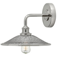 Hinkley 4360PN Rigby 1 Light 10 inch Polished Nickel Sconce Wall Light, Mesh Shades