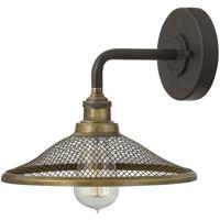 Hinkley 4360KZ Rigby 1 Light 10 inch Buckeye Bronze/Heritage Brass Sconce Wall Light
