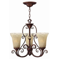 Hinkley Burgesa 3Lt Chandelier in Venetian Copper 4363VR photo thumbnail