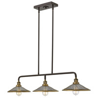 Hinkley 4364KZ Rigby 3 Light 40 inch Buckeye Bronze Linear Chandelier Ceiling Light
