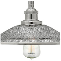 Hinkley 4367PN Rigby 1 Light 10 inch Polished Nickel Pendant Ceiling Light, Mesh Shades alternative photo thumbnail
