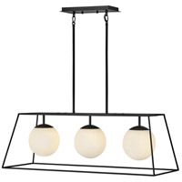 Hinkley 4376BK Jonas 3 Light 36 inch Black Linear Chandelier Ceiling Light