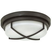 Hinkley 4381KZ Halsey 2 Light 13 inch Buckeye Bronze Foyer Flush Mount Ceiling Light, Etched Opal Glass