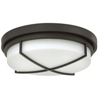 Halsey 3 Light 17 inch Buckeye Bronze Foyer Flush Mount Ceiling Light, Etched Opal Glass