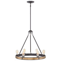 Hinkley 4395BZ Everett 6 Light 25 inch Bronze/Heritage Brass Chandelier Ceiling Light