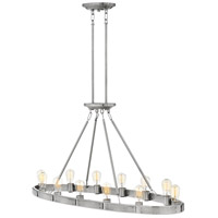 Everett 12 Light 48 inch Brushed Nickel Linear Chandelier Ceiling Light