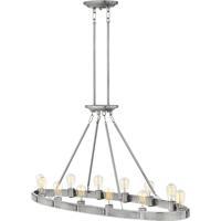 Hinkley 4396BN Everett 12 Light 48 inch Brushed Nickel Linear Chandelier Ceiling Light