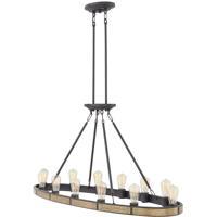 Hinkley 4396BZ Everett 12 Light 48 inch Bronze/Heritage Brass Chandelier Ceiling Light, Oval