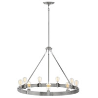 Everett 9 Light 32 inch Brushed Nickel Chandelier Ceiling Light