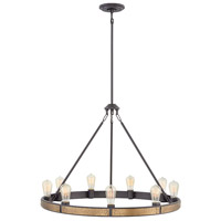 Everett 9 Light 32 inch Bronze Chandelier Ceiling Light