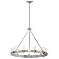 Hinkley 4398BN Everett 9 Light 32 inch Brushed Nickel Chandelier Ceiling Light