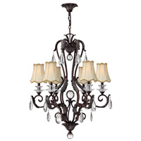 Marcellina 6 Light 29 inch Golden Bronze Chandelier Ceiling Light
