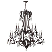 Marcellina 15 Light 47 inch Golden Bronze Foyer Chandelier Ceiling Light, 2 Tier