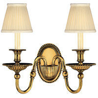 Cambridge 2 Light 15 inch Burnished Brass Sconce Wall Light