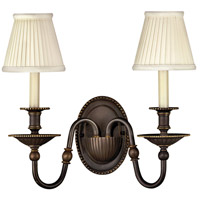Hinkley 4412OB Cambridge 2 Light 15 inch Olde Bronze Sconce Wall Light