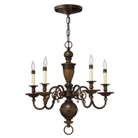 Hinkley 4415OB Cambridge 5 Light 25 inch Olde Bronze Chandelier Ceiling Light