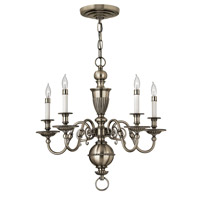 Hinkley 4415PW Cambridge 5 Light 25 inch Pewter Chandelier Ceiling Light