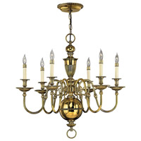 Hinkley 4416BB Cambridge 6 Light 29 inch Burnished Brass Foyer Chandelier Ceiling Light