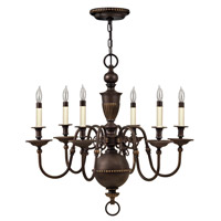 Hinkley 4416OB Cambridge 6 Light 29 inch Olde Bronze Chandelier Ceiling Light