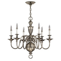 Hinkley 4416PW Cambridge 6 Light 29 inch Pewter Chandelier Ceiling Light