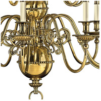 Hinkley 4417BB Cambridge 15 Light 37 inch Burnished Brass Foyer Chandelier Ceiling Light, 2 Tier alternative photo thumbnail