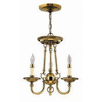 Hinkley Lighting Cambridge 3 Light Chandelier in Burnished Brass 4423BB