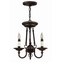 Hinkley Lighting Cambridge 3 Light Chandelier in Olde Bronze 4423OB photo thumbnail