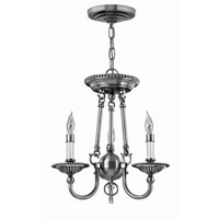 Hinkley Lighting Cambridge 3 Light Chandelier in Pewter 4423PW photo thumbnail