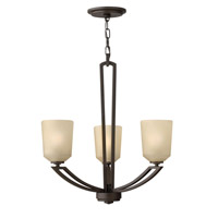Hinkley 4433KZ Parker 3 Light 22 inch Buckeye Bronze Chandelier Ceiling Light