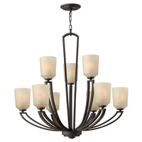 Hinkley 4438KZ Parker 9 Light 32 inch Buckeye Bronze Chandelier Ceiling Light, 2 Tier