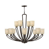 Hinkley 4439KZ Parker 12 Light 42 inch Buckeye Bronze Chandelier Ceiling Light, 2 Tier