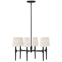 Hinkley 4466BK Beaumont 6 Light 28 inch Black Chandelier Ceiling Light