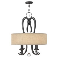 Hinkley 4474TB Marion 4 Light 22 inch Textured Black Chandelier Ceiling Light