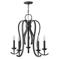Hinkley 4475TB Marion 5 Light 25 inch Textured Black Chandelier Ceiling Light