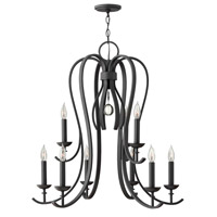 Hinkley 4478TB Marion 9 Light 30 inch Textured Black Chandelier Ceiling Light