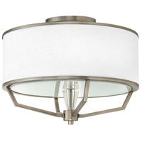 Larchmere 3 Light 18 inch English Nickel Foyer Semi-Flush Mount Ceiling Light