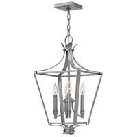 Hinkley 4493PL Fleming 4 Light 12 inch Polished Antique Nickel Pendant Ceiling Light