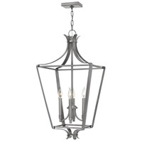 Hinkley 4494PL Fleming 4 Light 17 inch Polished Antique Nickel Foyer Light Ceiling Light