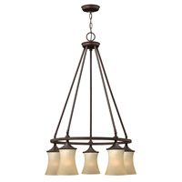 Thistledown 5 Light 25 inch Victorian Bronze Chandelier Ceiling Light