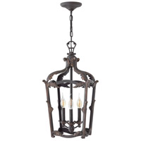 Sorrento 3 Light 12 inch Aged Iron Foyer Light Ceiling Light
