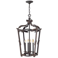 Sorrento 4 Light 16 inch Aged Iron Foyer Light Ceiling Light