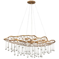 Hinkley 45308BNG Laguna 8 Light 42 inch Burnished Gold Linear Chandelier Ceiling Light, Oval