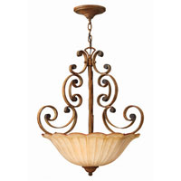 Hinkley Petals Pendant 3Lt Foyer in Antique Gold 4532AD