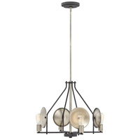 Hinkley 4534DZ Boyer 4 Light 24 inch Aged Zinc Chandelier Ceiling Light