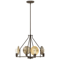 Hinkley 4534OZ Boyer 4 Light 24 inch Oil Rubbed Bronze Chandelier Ceiling Light