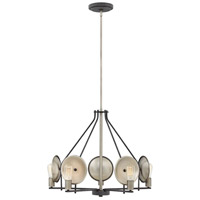 Hinkley 4535DZ Boyer 5 Light 28 inch Aged Zinc Chandelier Ceiling Light