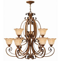 Hinkley Petals 2 Tier 9Lt Chandelier in Antique Gold 4538AD
