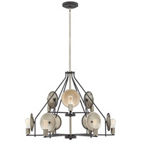 Hinkley 4538DZ Boyer 9 Light 35 inch Aged Zinc Chandelier Ceiling Light