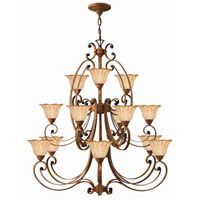 Hinkley Petals 3 Tier 15Lt Chandelier in Antique Gold 4539AD